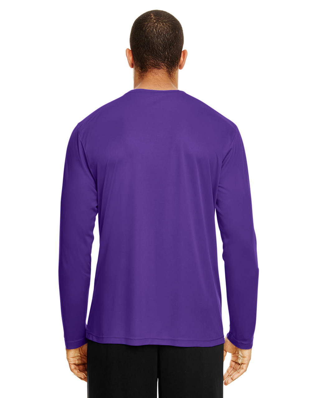 Sport Purple, Back - TT11L Team 365 Men's Zone Performance Long Sleeve T-Shirt | BlankClothing.ca