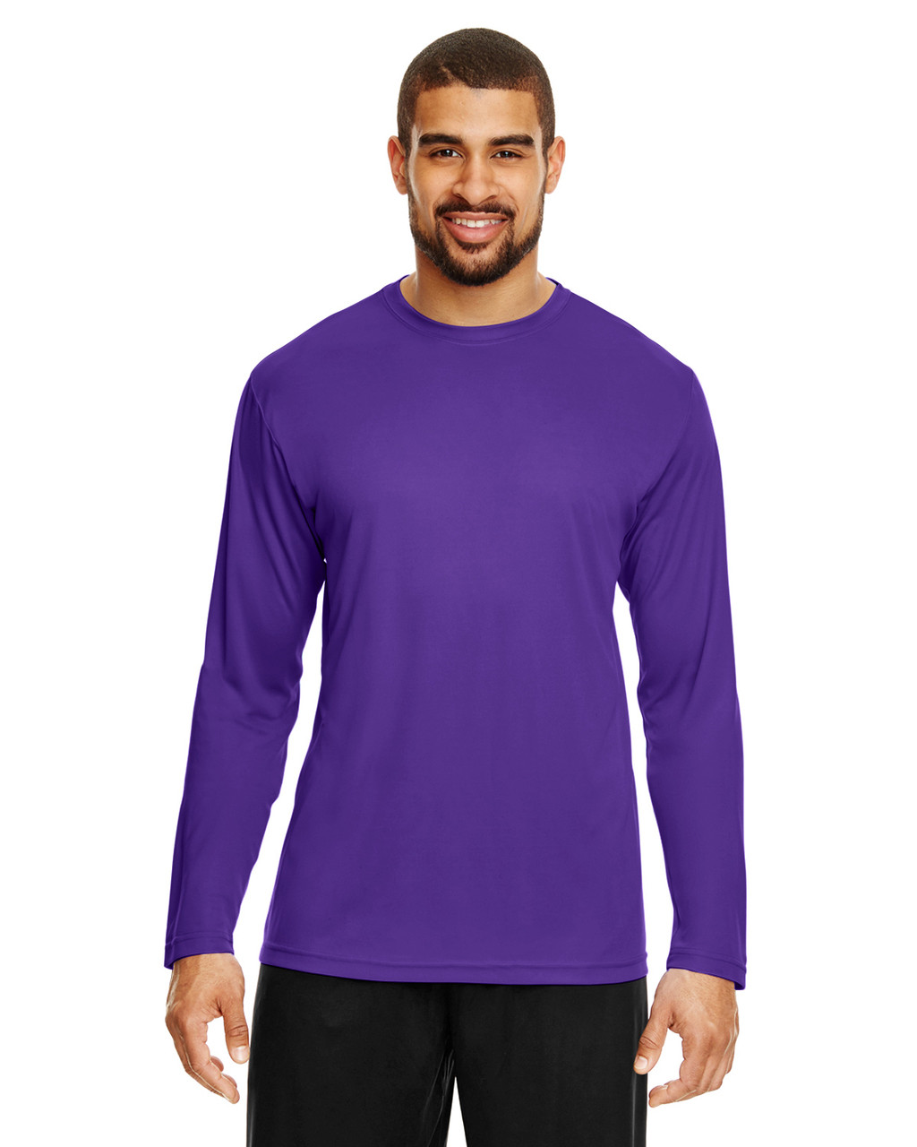 Sport Purple - TT11L Team 365 Men's Zone Performance Long Sleeve T-Shirt | BlankClothing.ca