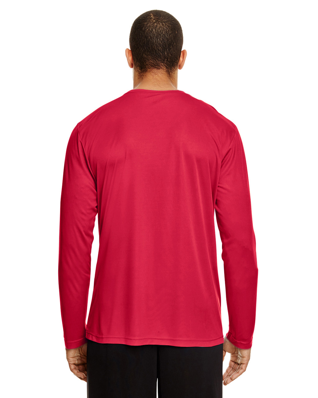 Sport Red, Back - TT11L Team 365 Men's Zone Performance Long Sleeve T-Shirt | BlankClothing.ca