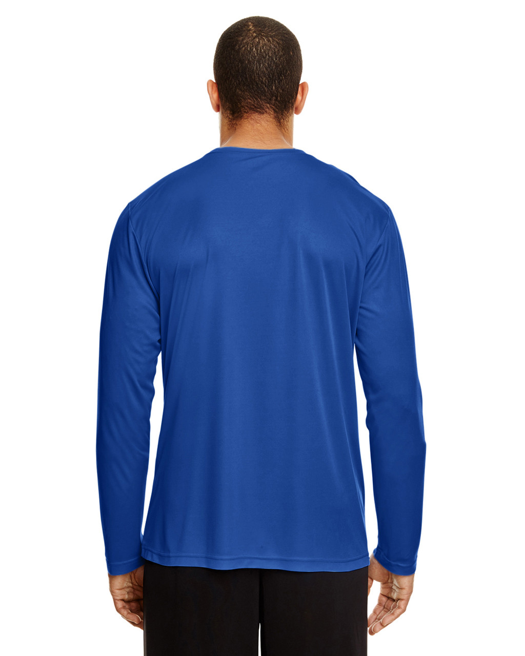 Sport Royal, Back - TT11L Team 365 Men's Zone Performance Long Sleeve T-Shirt | BlankClothing.ca