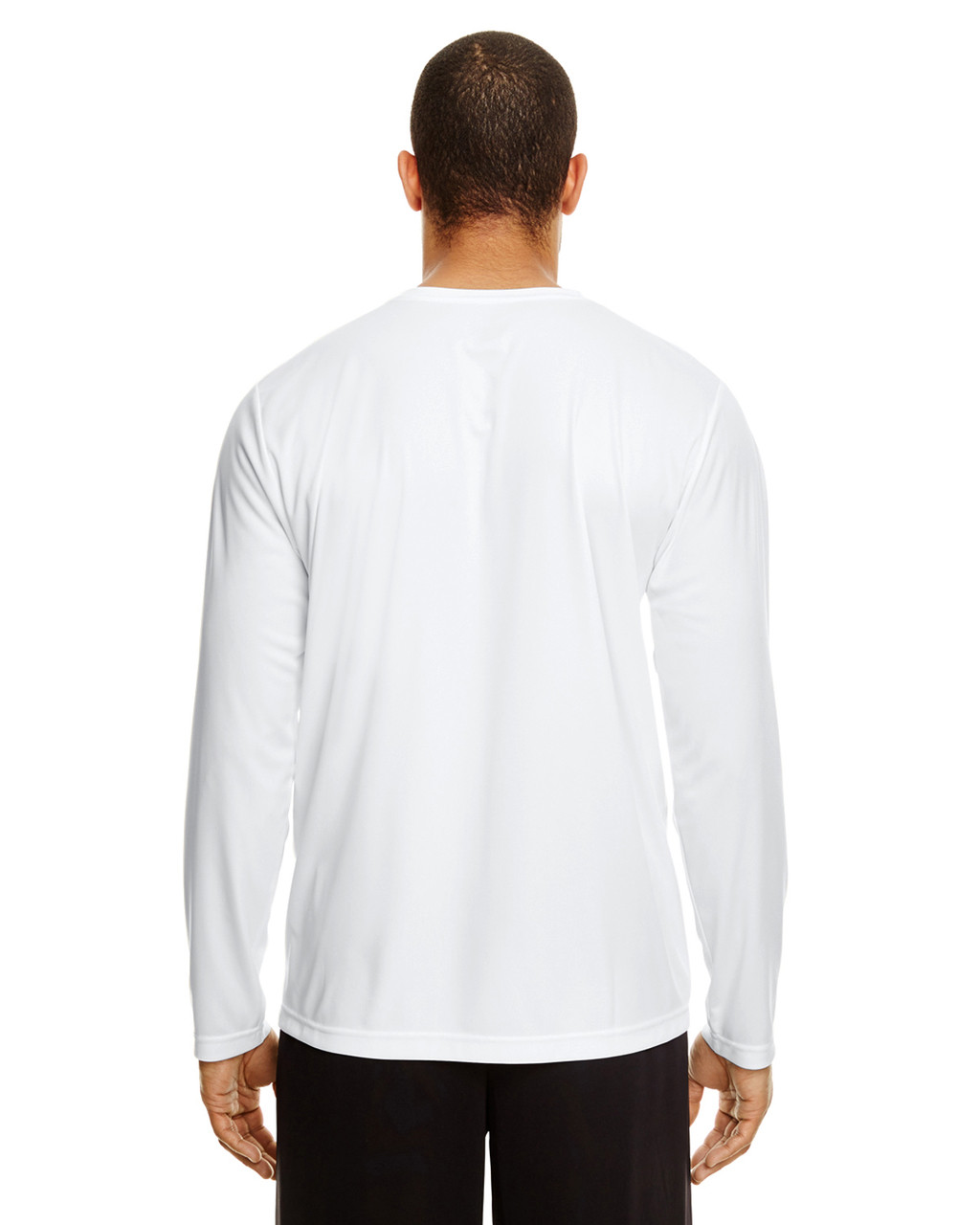 White, Back - TT11L Team 365 Men's Zone Performance Long Sleeve T-Shirt | BlankClothing.ca