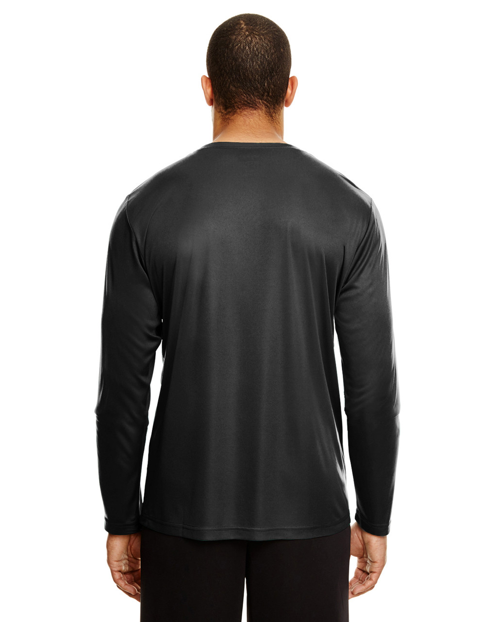 Black, Back - TT11L Team 365 Men's Zone Performance Long Sleeve T-Shirt | BlankClothing.ca