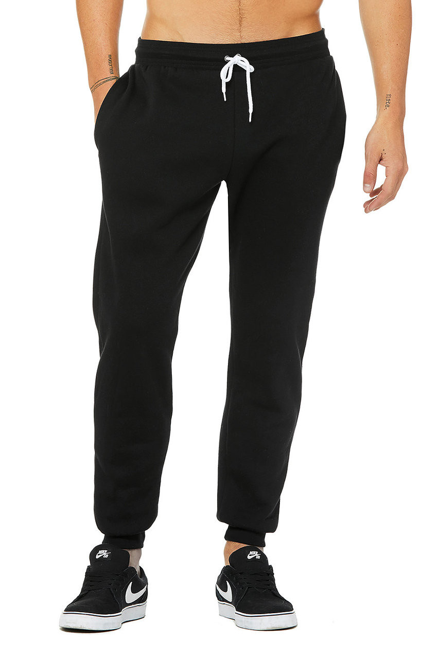Black - 3727 Bella + Canvas Unisex Jogger Sweatpant