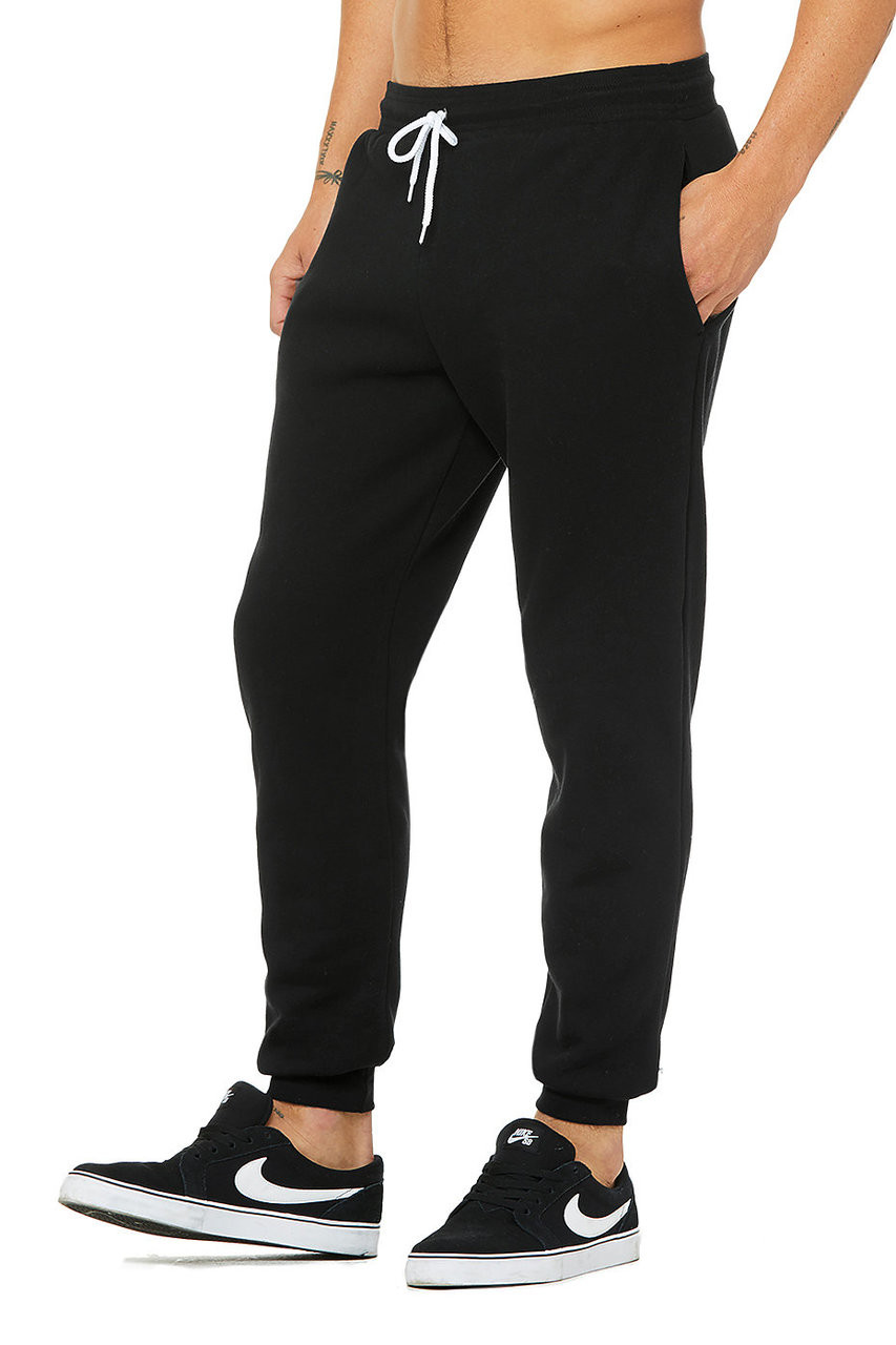 Black, Side - 3727 Bella + Canvas Unisex Jogger Sweatpant