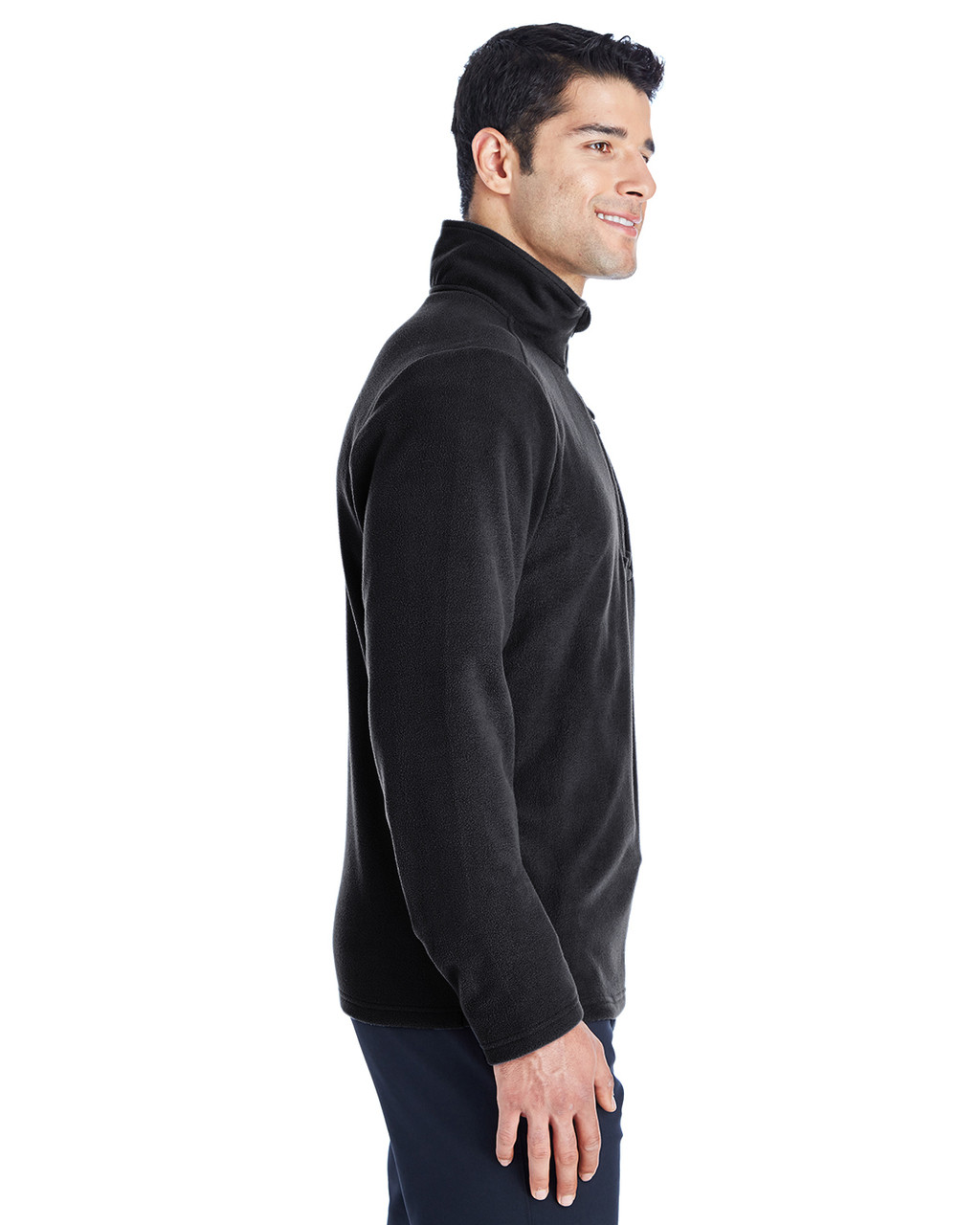 Black/Red, Side -  187332 Spyder Men's Transport Quarter-Zip Fleece Pullover | BlankClothing.ca