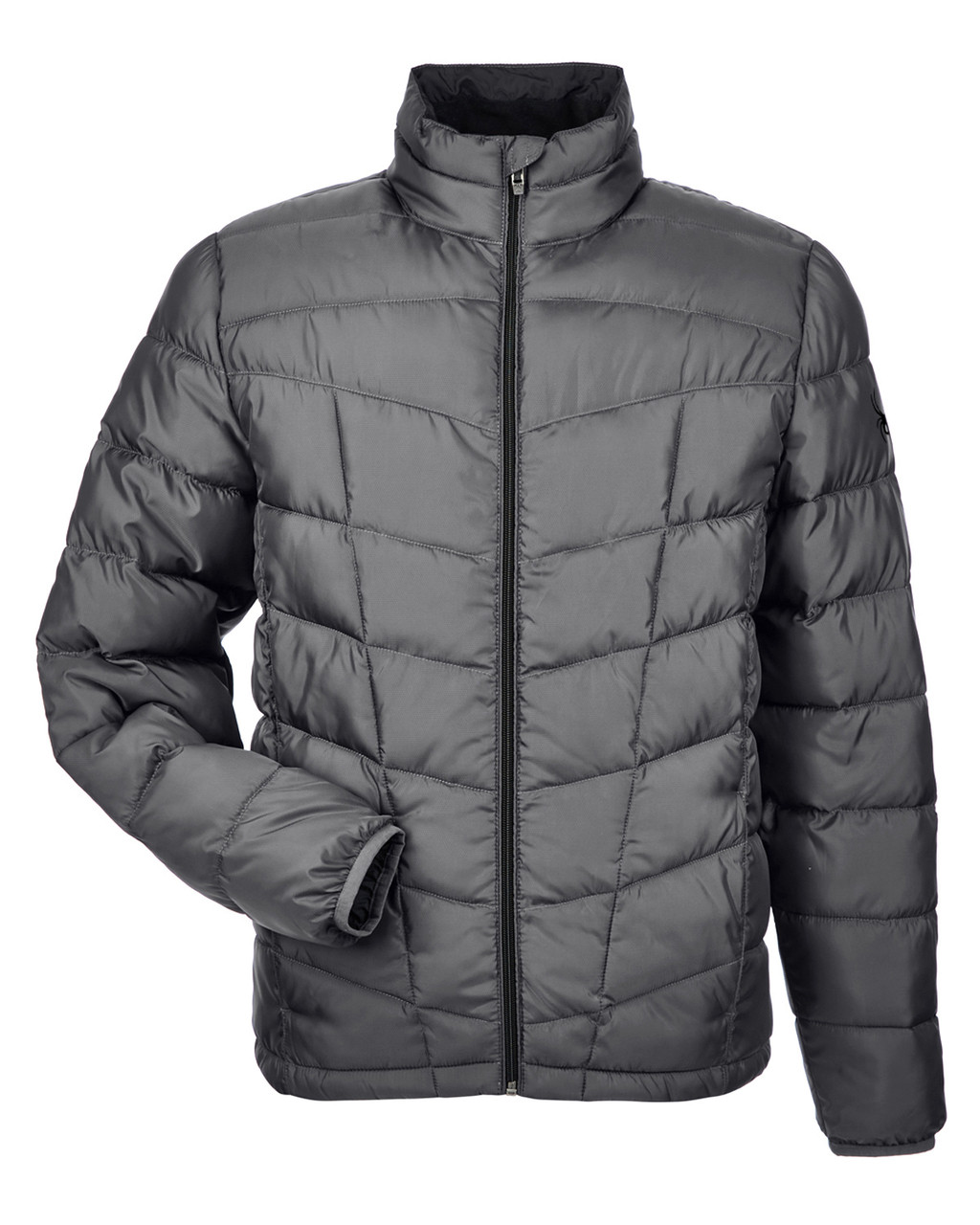 Polar/ Black - 187333 Spyder Men's Pelmo Insulated Puffer Jacket | BlankClothing.ca