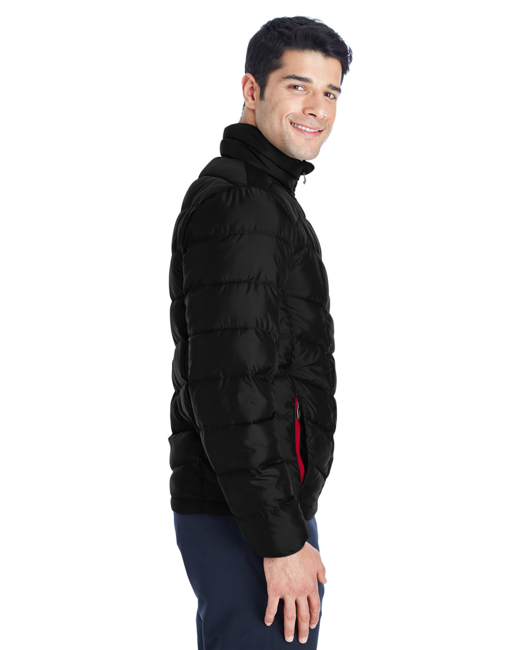 Black/Red, Side - 187333 Spyder Men's Pelmo Insulated Puffer Jacket | BlankClothing.ca