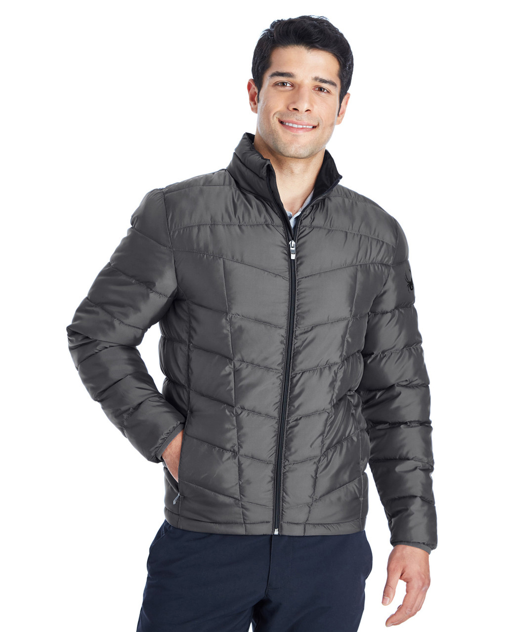 Polar/Black - 187333 Spyder Men's Pelmo Insulated Puffer Jacket | BlankClothing.ca
