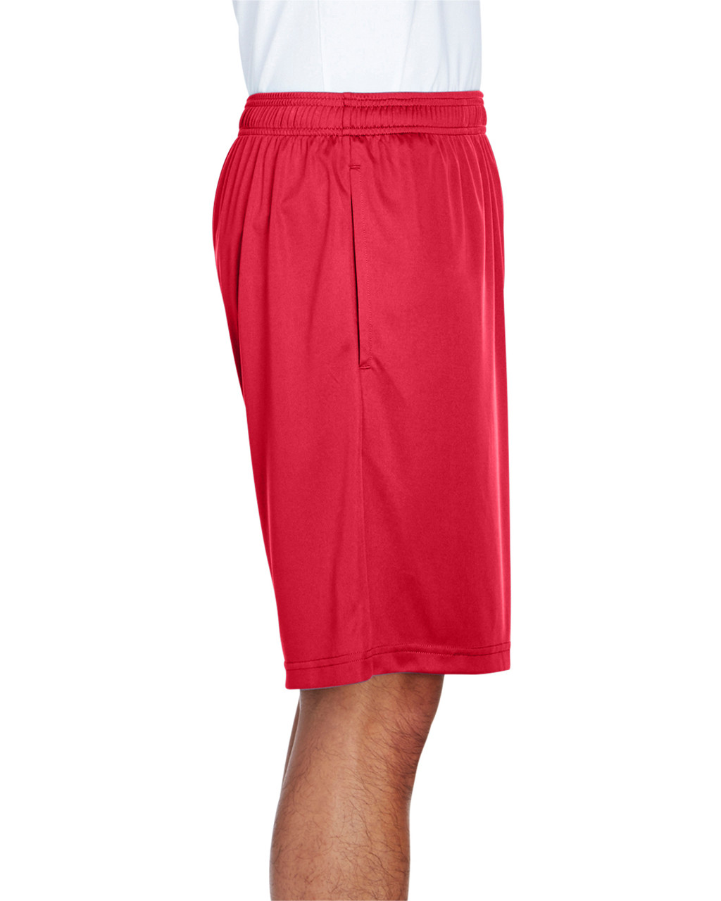 Sport Red - Side, TT11SH Team 365 Men's Zone Performance Short | BlankClothing.ca