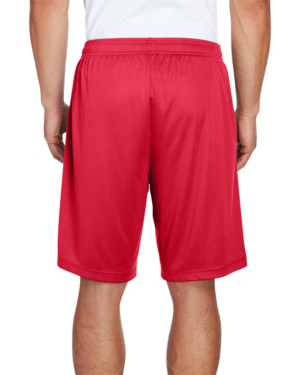 Sport Red - Back, TT11SH Team 365 Men's Zone Performance Short | BlankClothing.ca