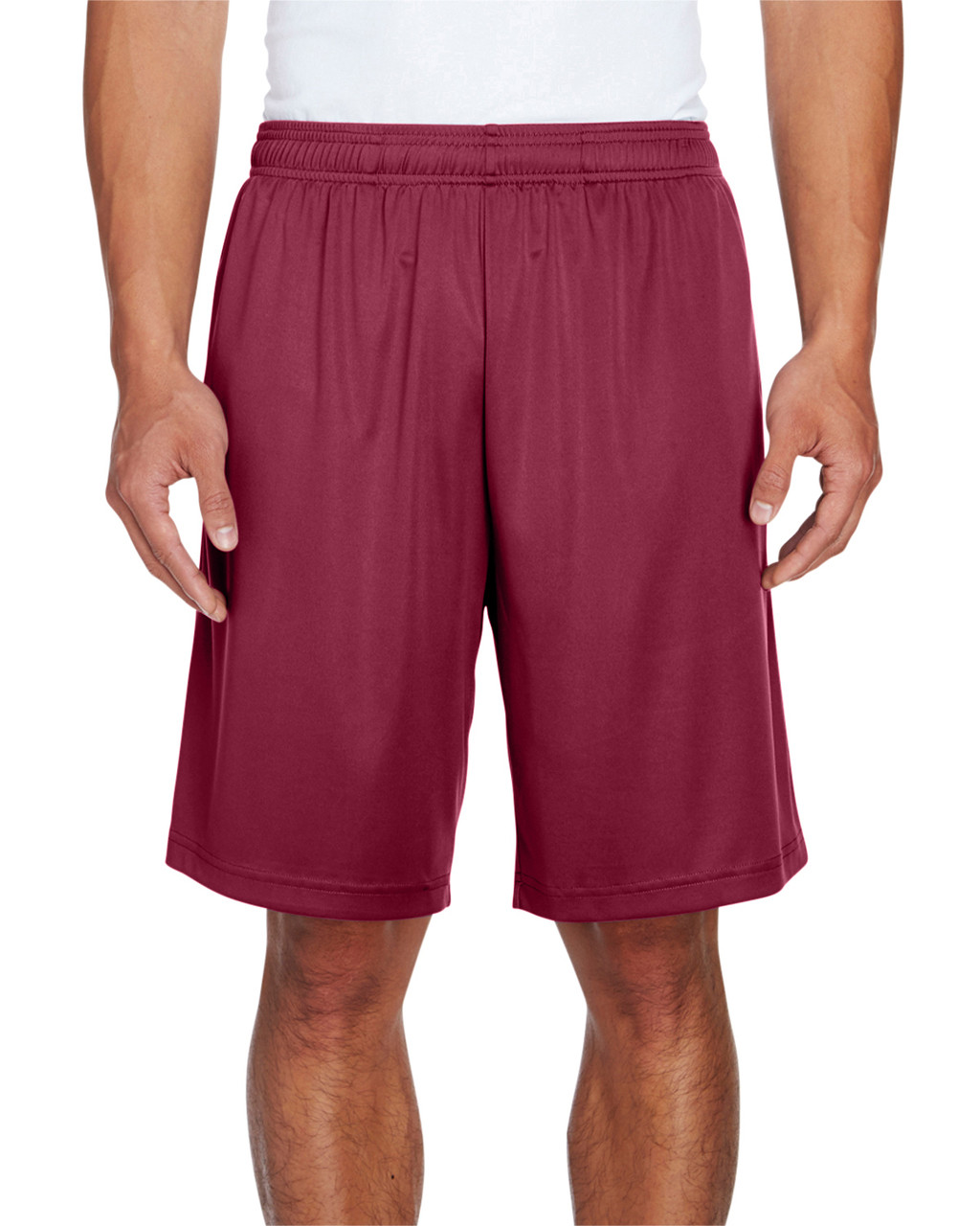 Sport Maroon - TT11SH Team 365 Men's Zone Performance Short | BlankClothing.ca
