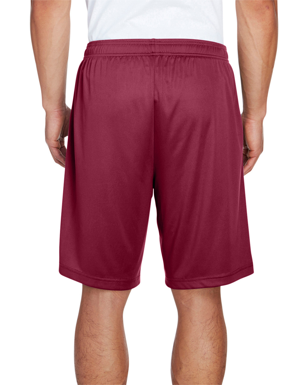 Sport Maroon - Back, TT11SH Team 365 Men's Zone Performance Short | BlankClothing.ca