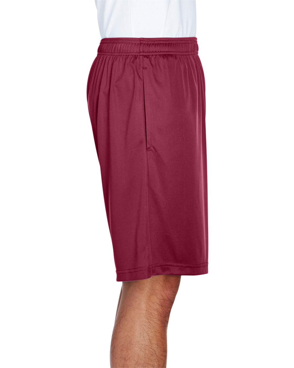 Sport Maroon - Side, TT11SH Team 365 Men's Zone Performance Short | BlankClothing.ca