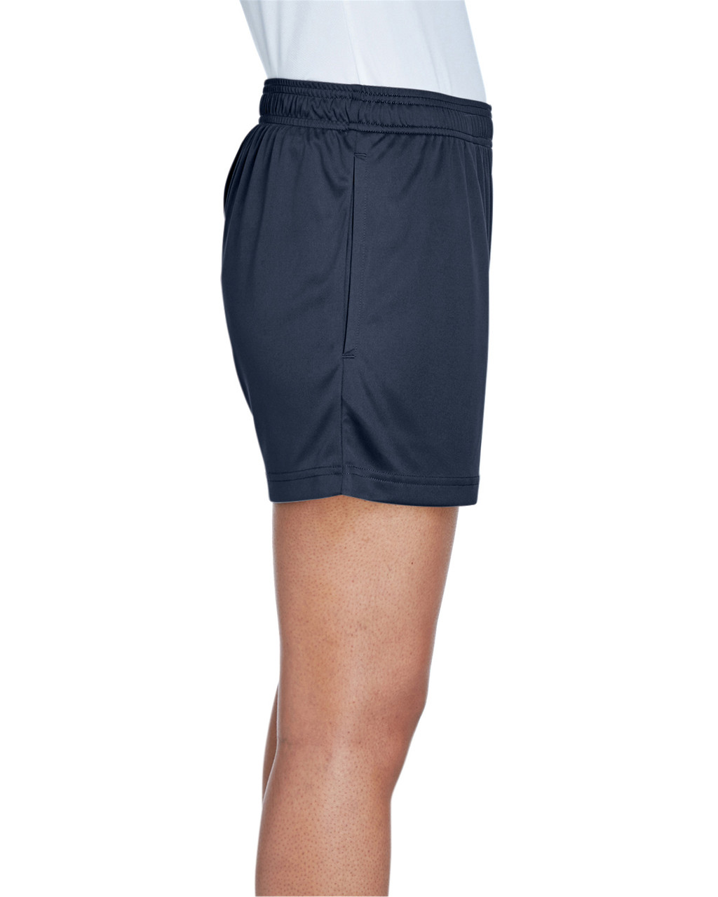 Sport Dark Navy - Side, TT11SHW Team 365 Ladies' Zone Performance Short | T-shirt.ca