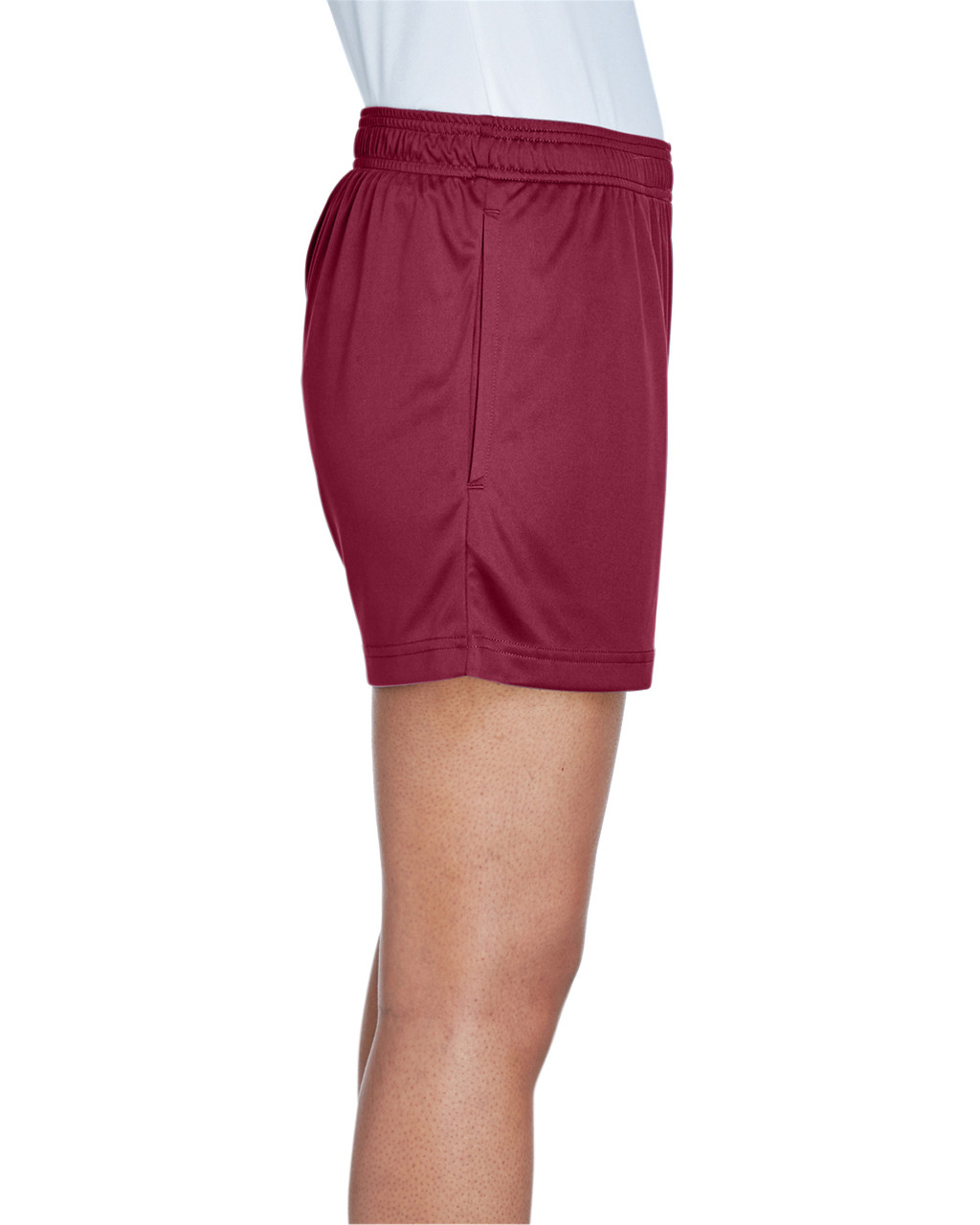Sport Maroon - Side, TT11SHW Team 365 Ladies' Zone Performance Short | T-shirt.ca