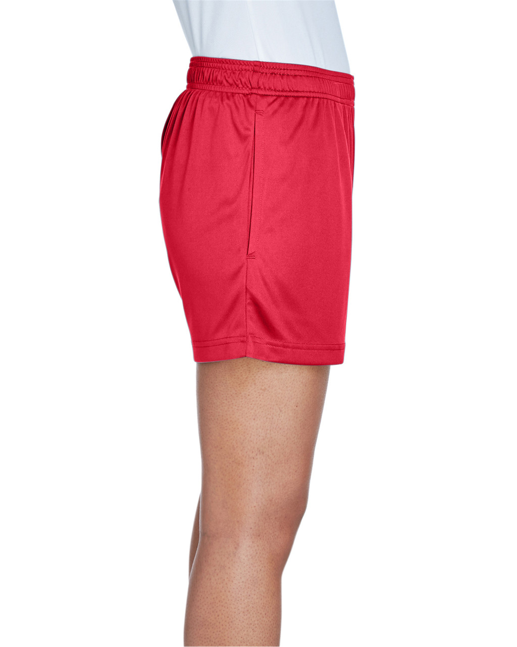 Sport Red - Side, TT11SHW Team 365 Ladies' Zone Performance Short | T-shirt.ca