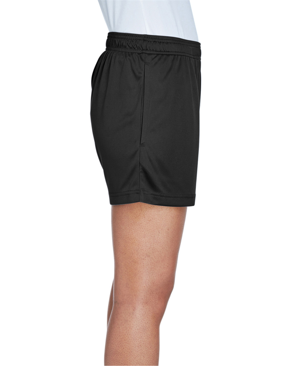 Black - Side, TT11SHW Team 365 Ladies' Zone Performance Short | T-shirt.ca