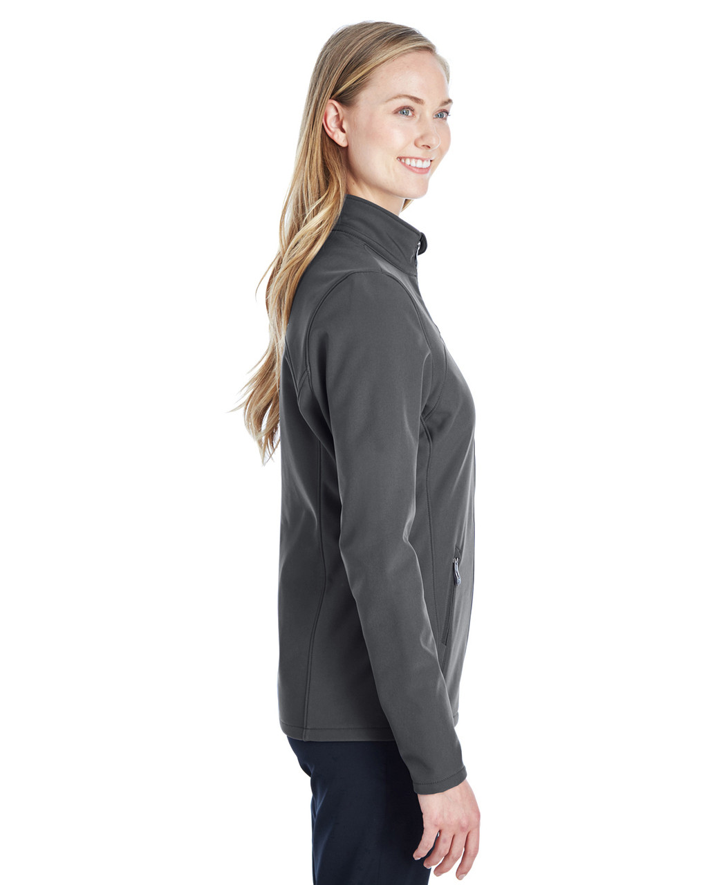 Polar/White, Side - 187337 Spyder Ladies' Transport Softshell Jacket | BlankClothing.ca