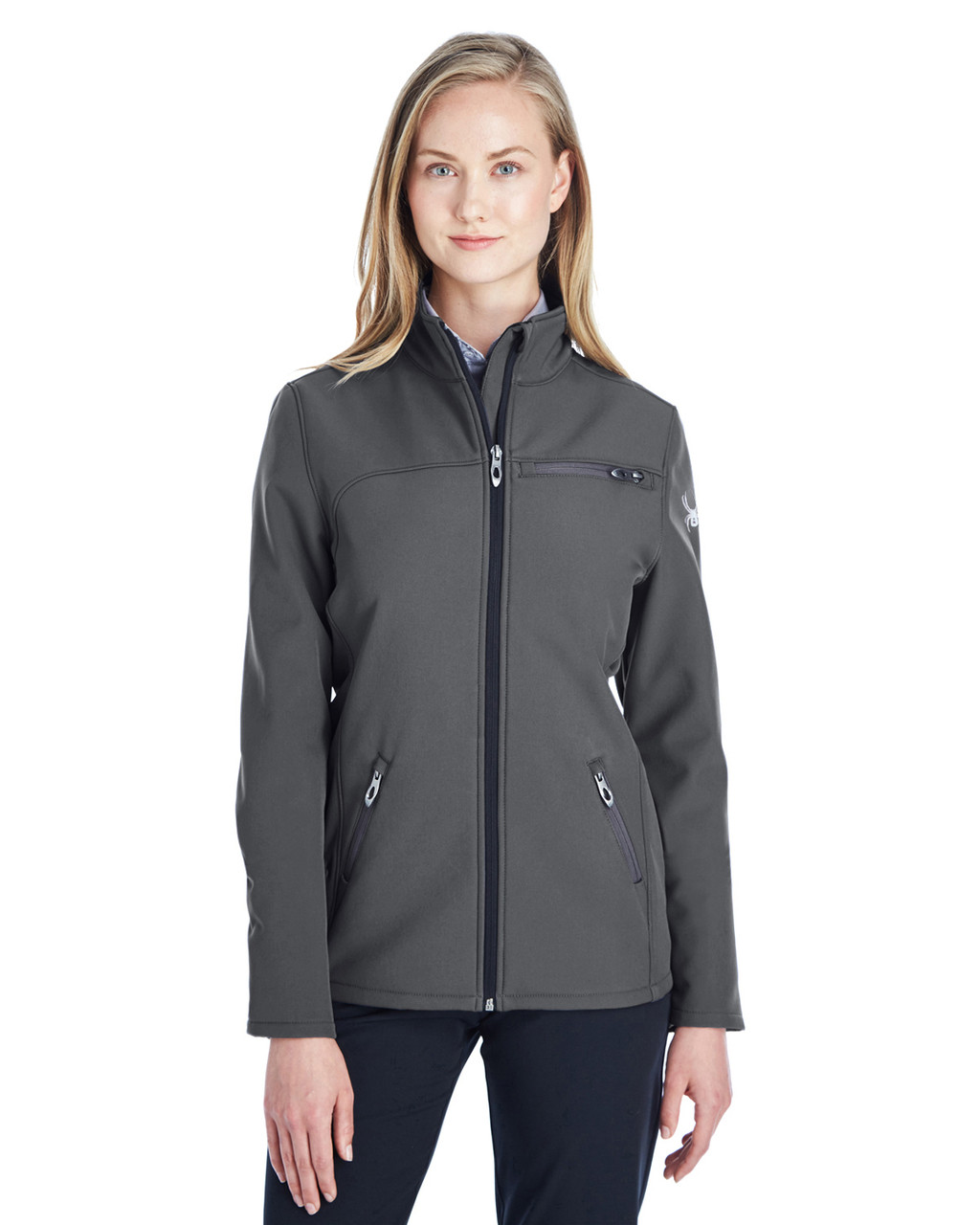 Polar/White - 187337 Spyder Ladies' Transport Softshell Jacket | BlankClothing.ca