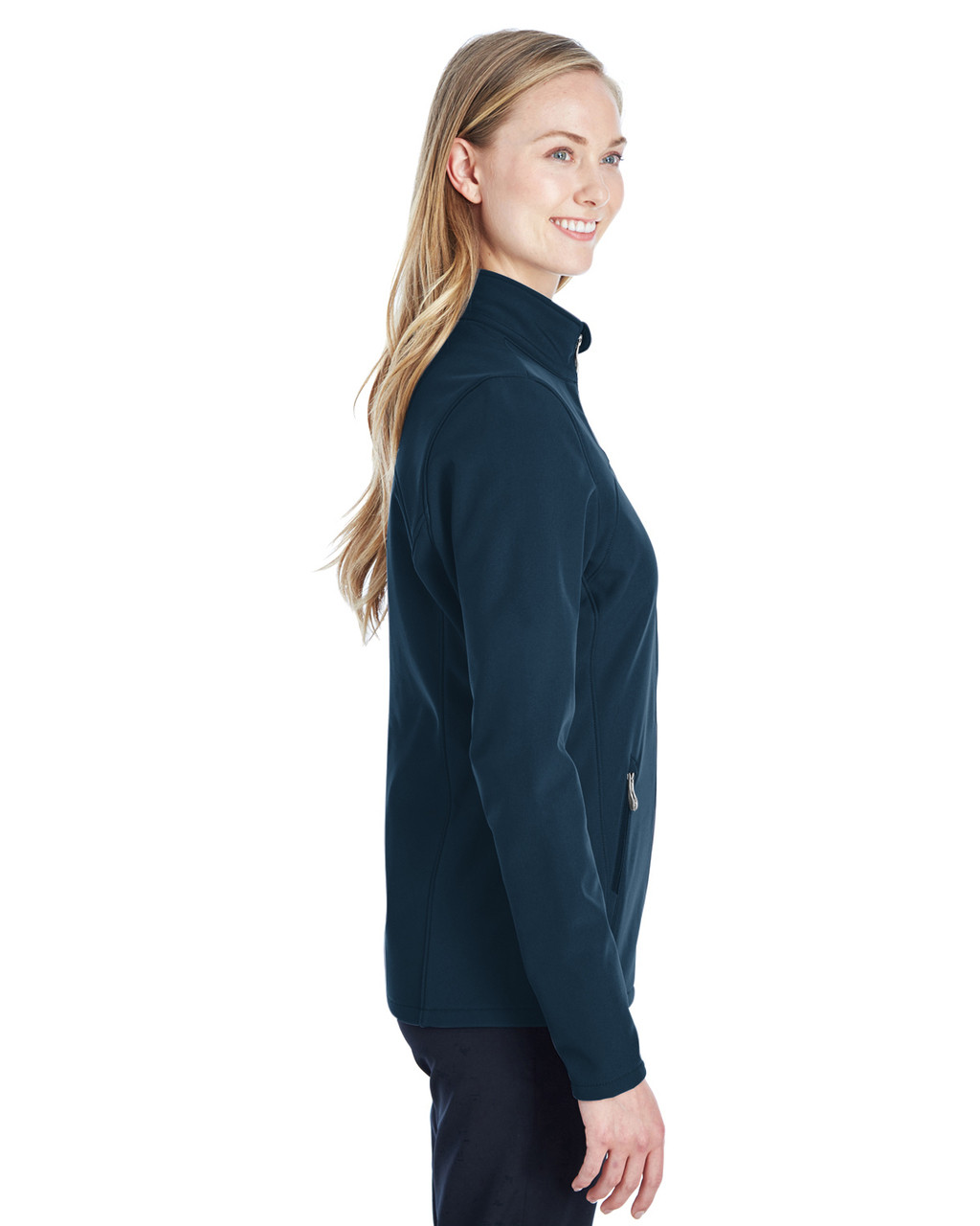 Frontier/ Black, Side - 187337 Spyder Ladies' Transport Softshell Jacket | BlankClothing.ca