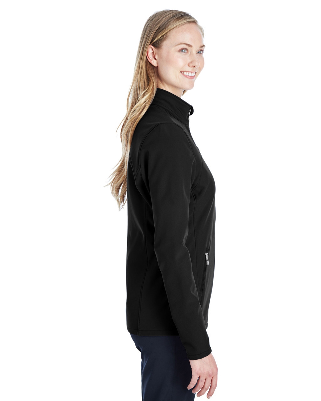 Black/Red, Side - 187337 Spyder Ladies' Transport Softshell Jacket | BlankClothing.ca