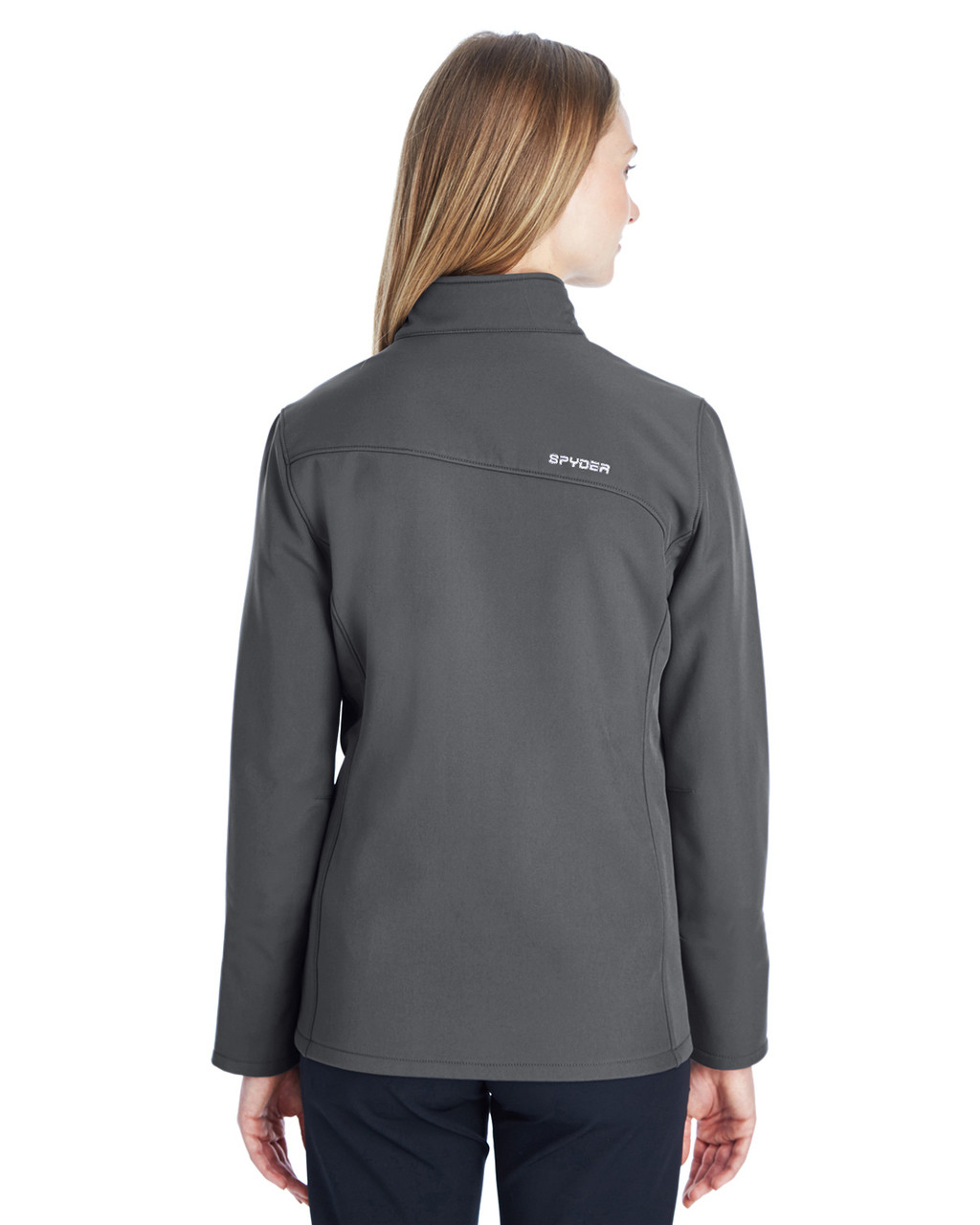 Polar/White, Back - 187337 Spyder Ladies' Transport Softshell Jacket | BlankClothing.ca
