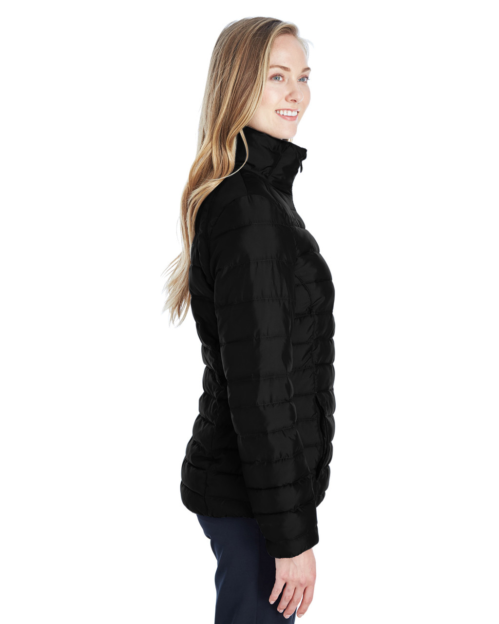 Black/Red, Side - 187336 Spyder Ladies' Supreme Insulated Puffer Jacket | BlankClothing.ca