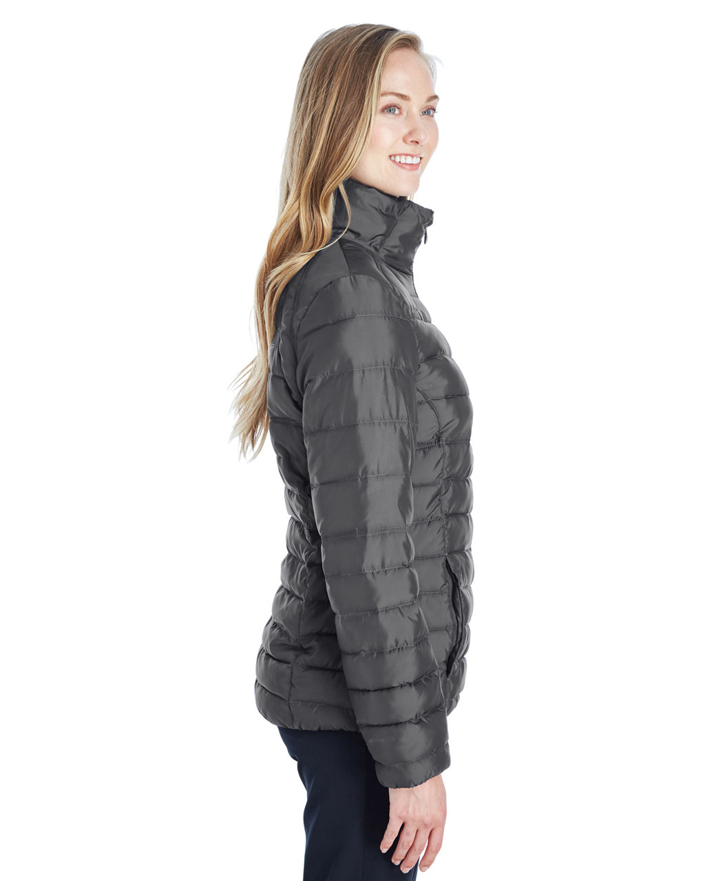 Polar/Alloy, Side - 187336 Spyder Ladies' Supreme Insulated Puffer Jacket | BlankClothing.ca