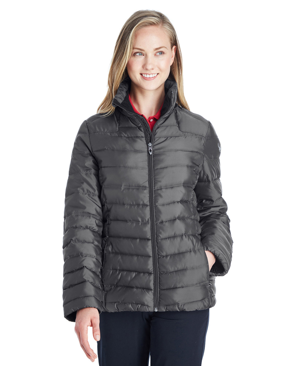 Polar/Alloy - 187336 Spyder Ladies' Supreme Insulated Puffer Jacket | BlankClothing.ca