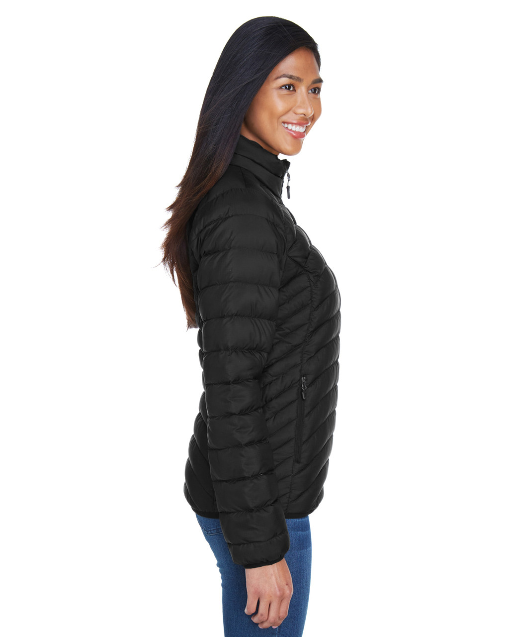 Black, Side - 78370 Marmot Ladies' Aruna Insulated Puffer Jacket | BlankClothing.ca