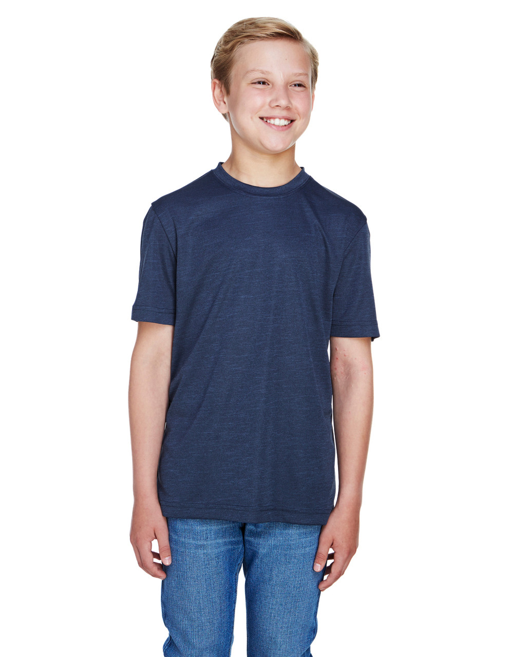 Sport Dark Navy Heather - TT11HY Team 365 Youth Sonic Heather Performance T-Shirt | BlankClothing.ca
