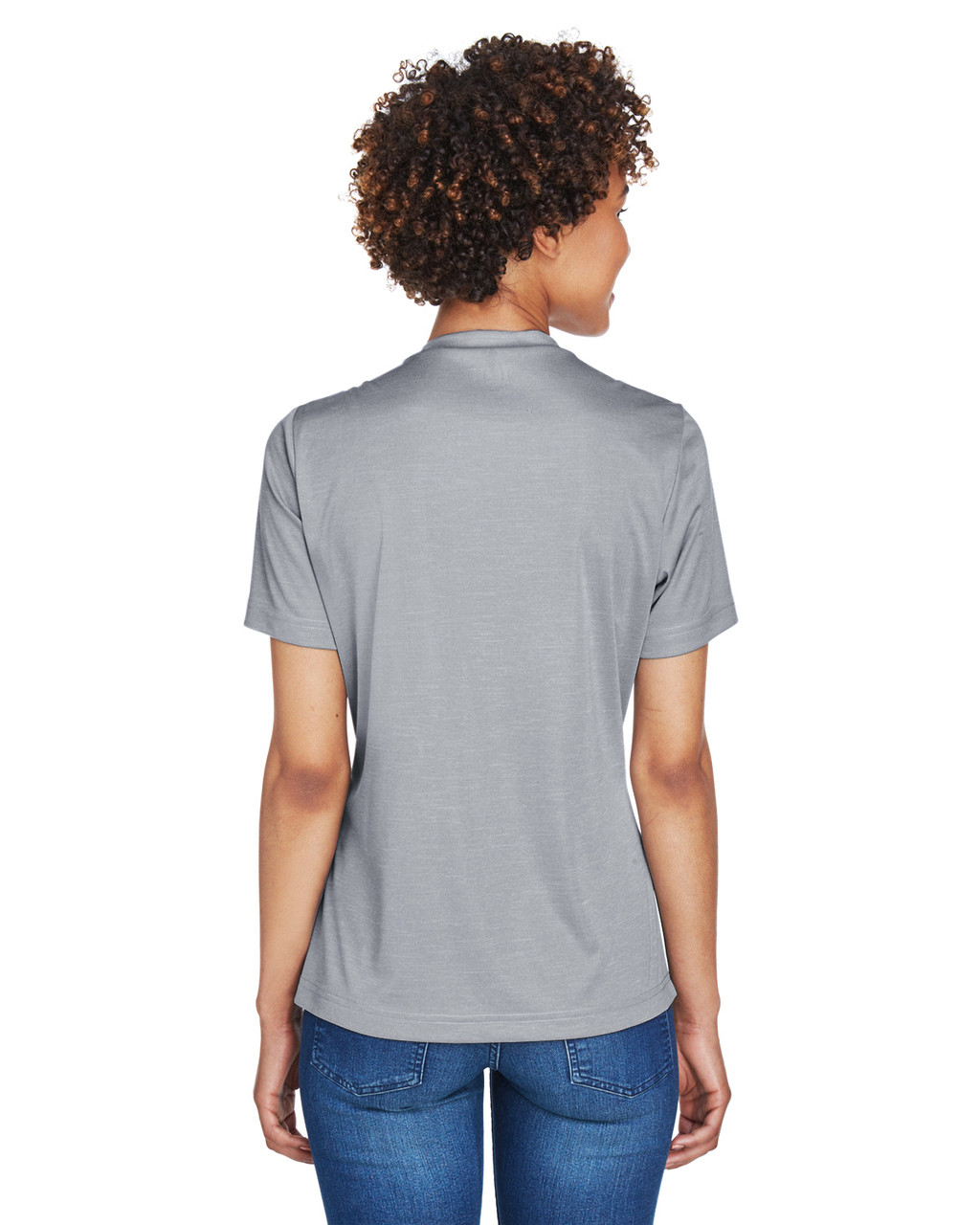 Athletic Heather - Back, TT11HW Team 365 Ladies' Sonic Heather Performance T-Shirt | BlankClothing.ca