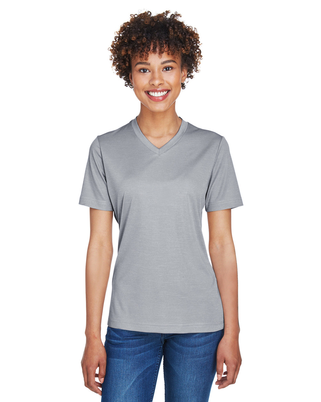 Athletic Heather - TT11HW Team 365 Ladies' Sonic Heather Performance T-Shirt | BlankClothing.ca