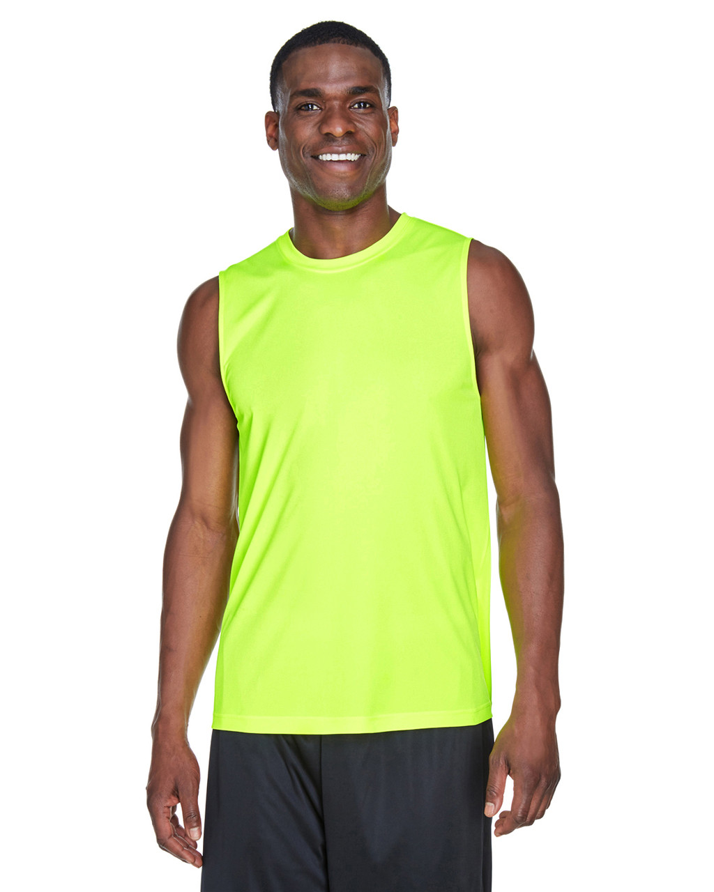 Safety Yellow - TT11M Team 365 Men's Performance Muscle T-Shirt | BlankClothing.ca