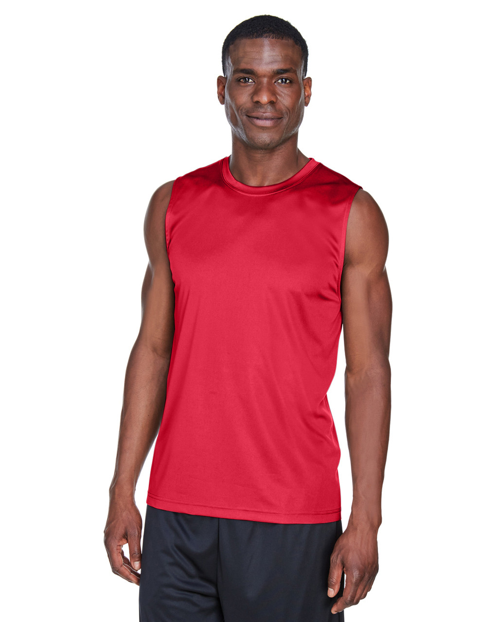 Sport Red - TT11M Team 365 Men's Performance Muscle T-Shirt | BlankClothing.ca