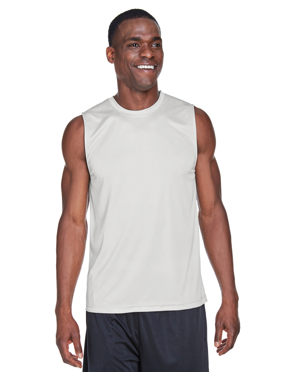 Sport Silver - TT11M Team 365 Men's Performance Muscle T-Shirt | BlankClothing.ca