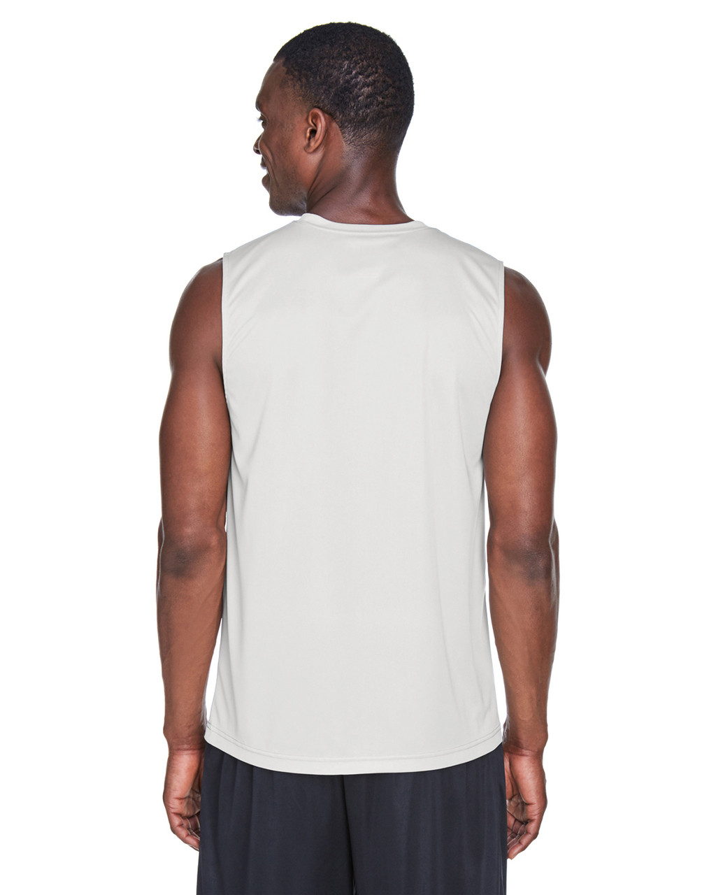 Sport Silver - Back, TT11M Team 365 Men's Performance Muscle T-Shirt | BlankClothing.ca