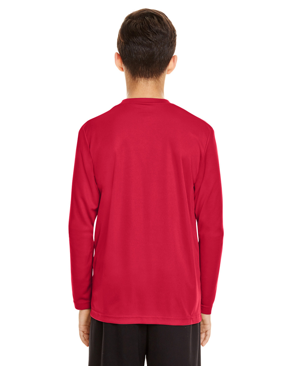 Sport Red - Back, TT11YL Team365 Youth Zone Performance Long Sleeve T-shirt | BlankClothing.ca