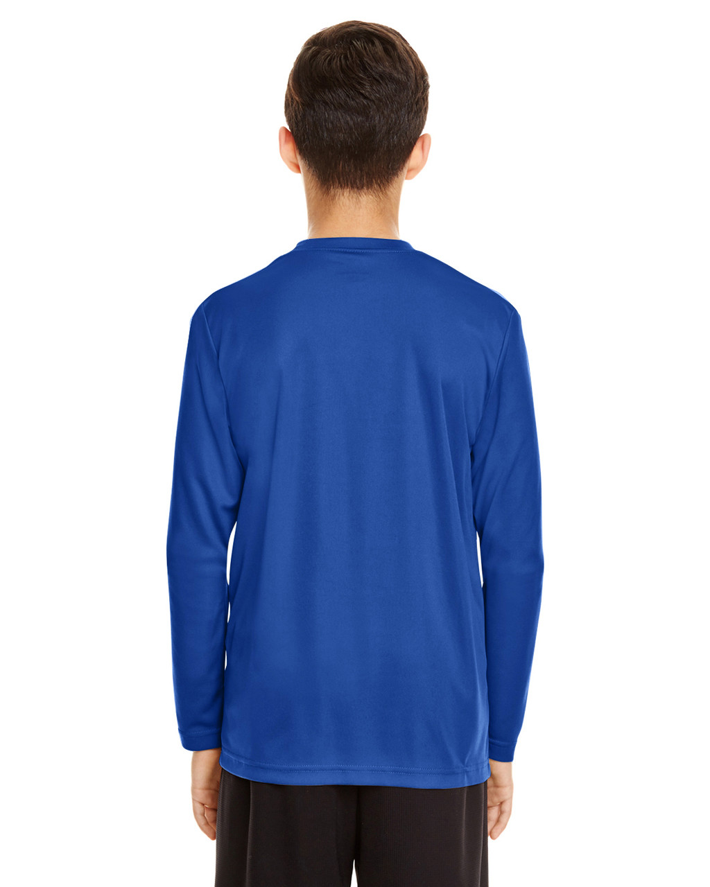 Sport Royal - Back, TT11YL Team365 Youth Zone Performance Long Sleeve T-shirt | BlankClothing.ca