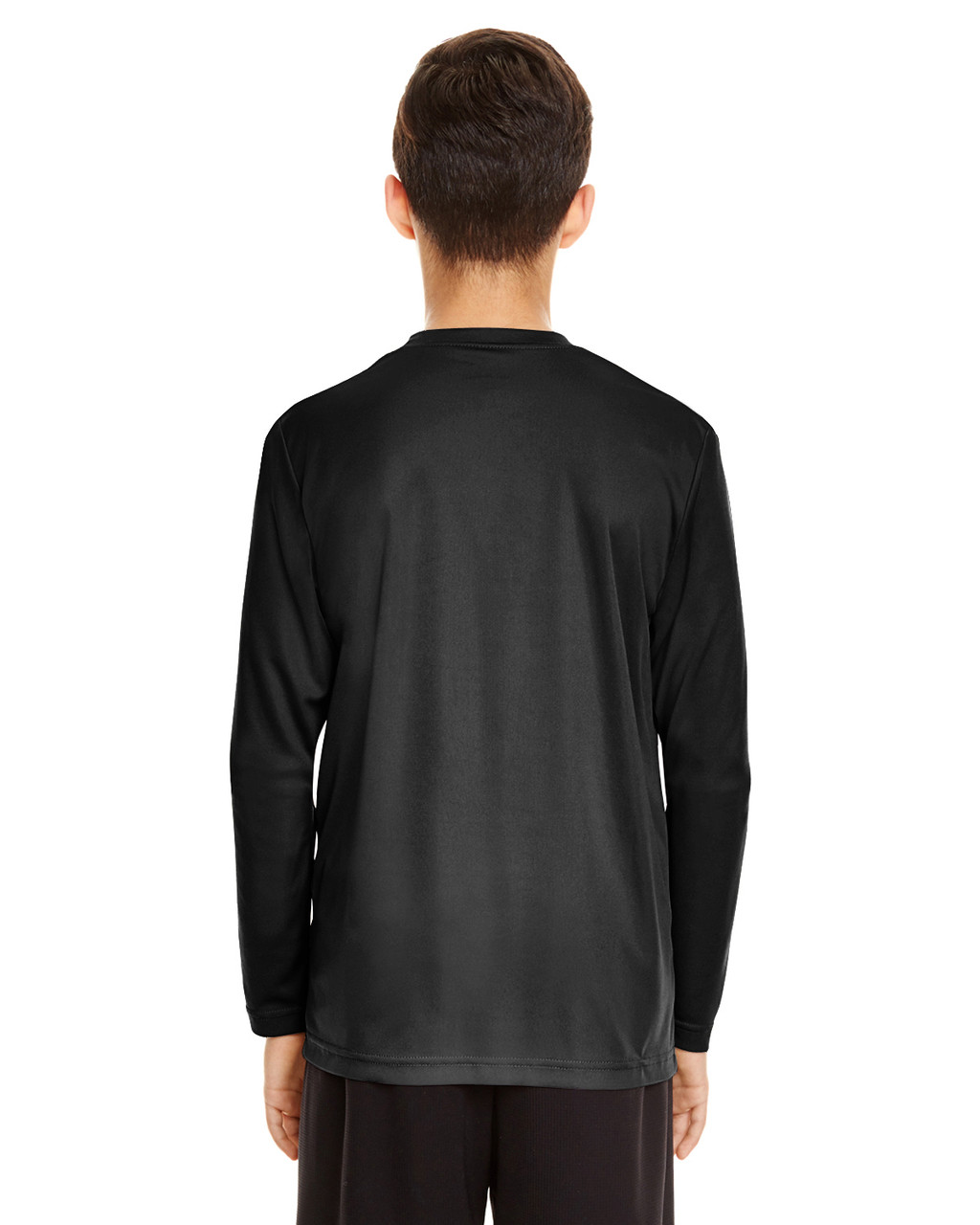 Black - Back, TT11YL Team365 Youth Zone Performance Long Sleeve T-shirt | BlankClothing.ca