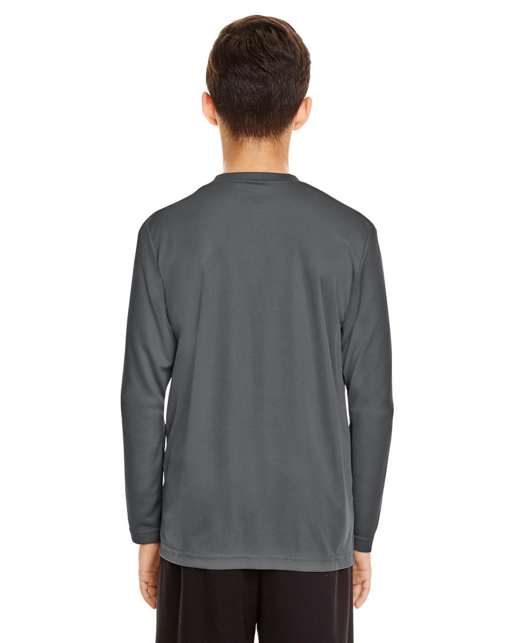 Sport Graphite - Back, TT11YL Team365 Youth Zone Performance Long Sleeve T-shirt | BlankClothing.ca