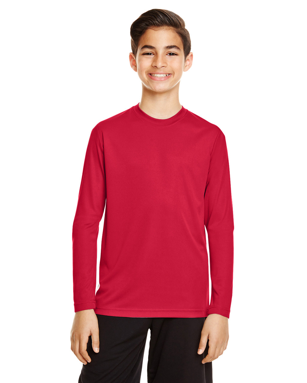 Sport Red - TT11YL Team365 Youth Zone Performance Long Sleeve T-shirt | BlankClothing.ca