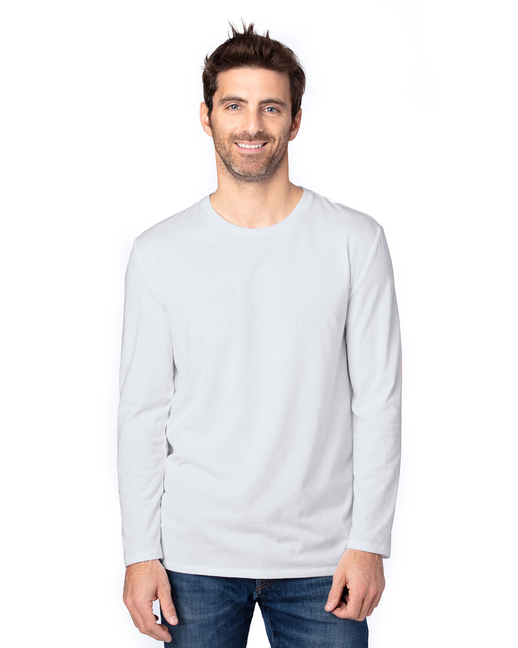 Silver - 100LS Threadfast Unisex Ultimate Long-Sleeve T-Shirt | T-shirt.ca