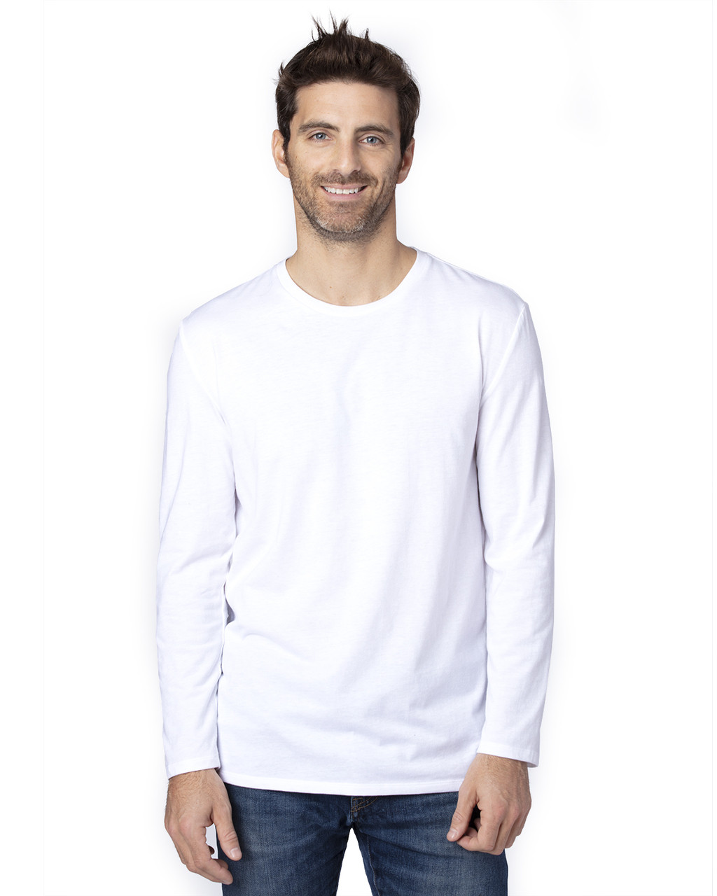 White - 100LS Threadfast Unisex Ultimate Long-Sleeve T-Shirt | T-shirt.ca