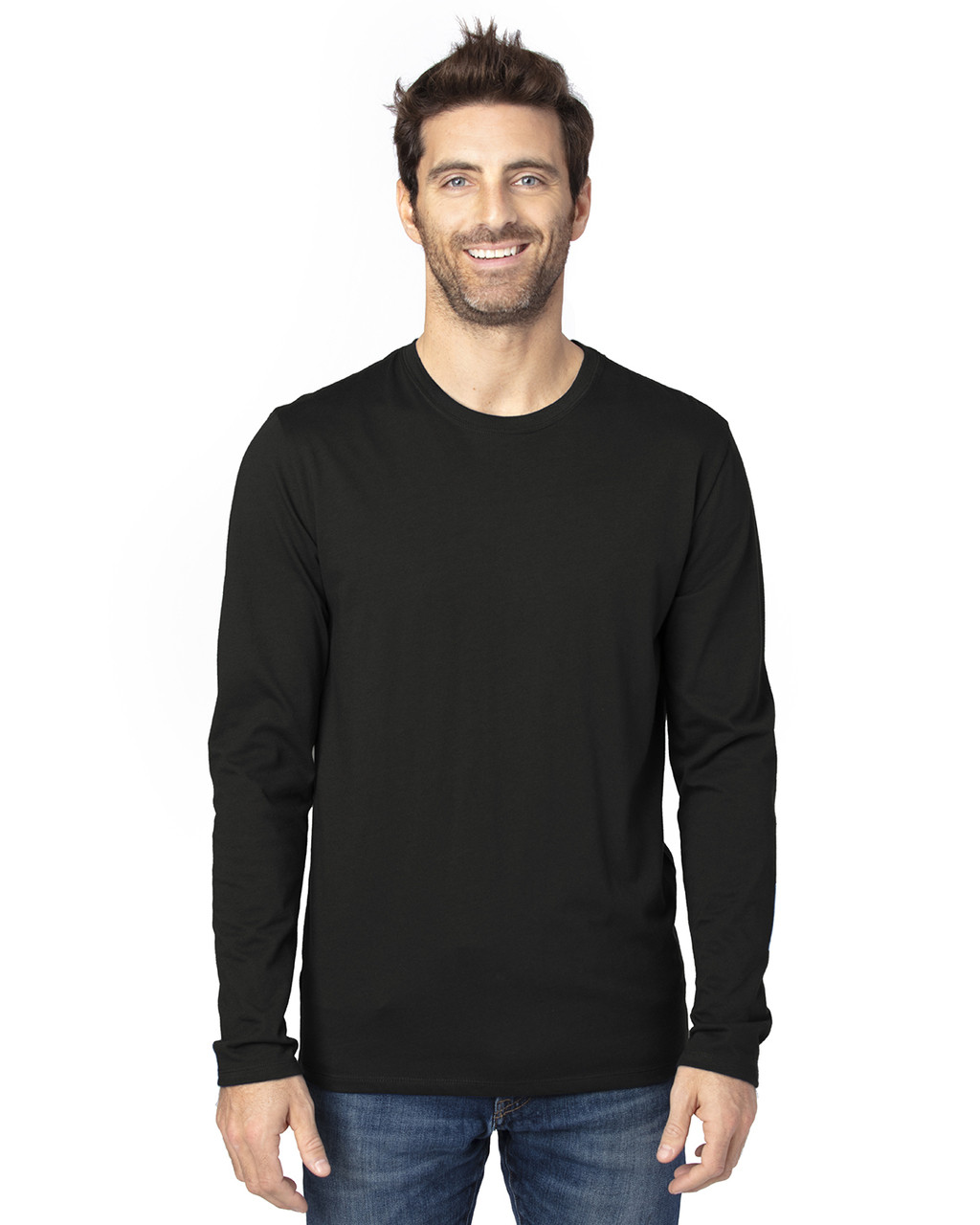 Black - 100LS Threadfast Unisex Ultimate Long-Sleeve T-Shirt | T-shirt.ca