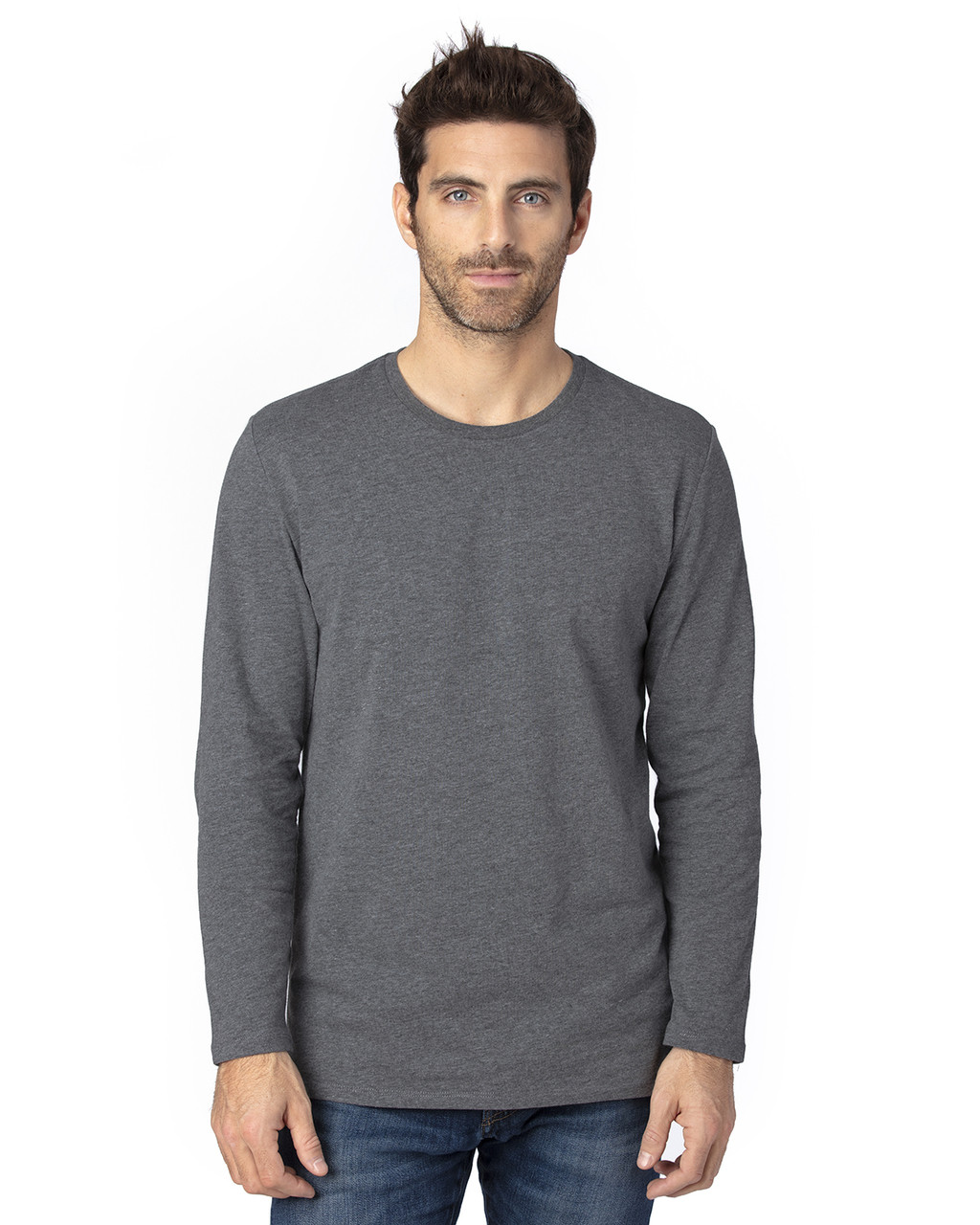 Charcoal Heather - 100LS Threadfast Unisex Ultimate Long-Sleeve T-Shirt | T-shirt.ca