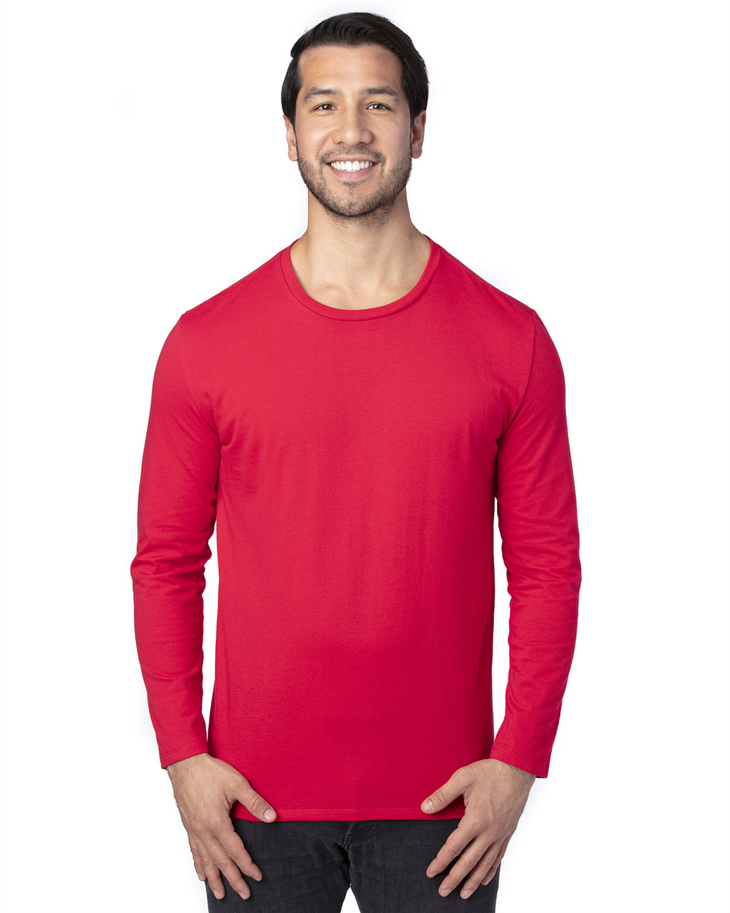 Red - 100LS Threadfast Unisex Ultimate Long-Sleeve T-Shirt | T-shirt.ca