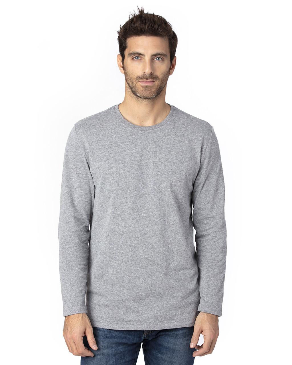 Heather Grey - 100LS Threadfast Unisex Ultimate Long-Sleeve T-Shirt | T-shirt.ca