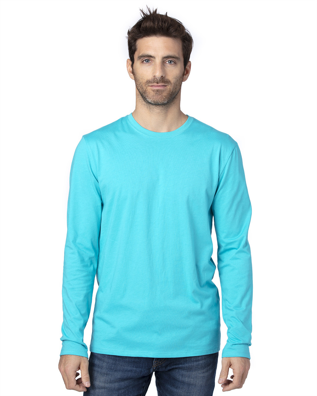 Pacific Blue - 100LS Threadfast Unisex Ultimate Long-Sleeve T-Shirt | T-shirt.ca