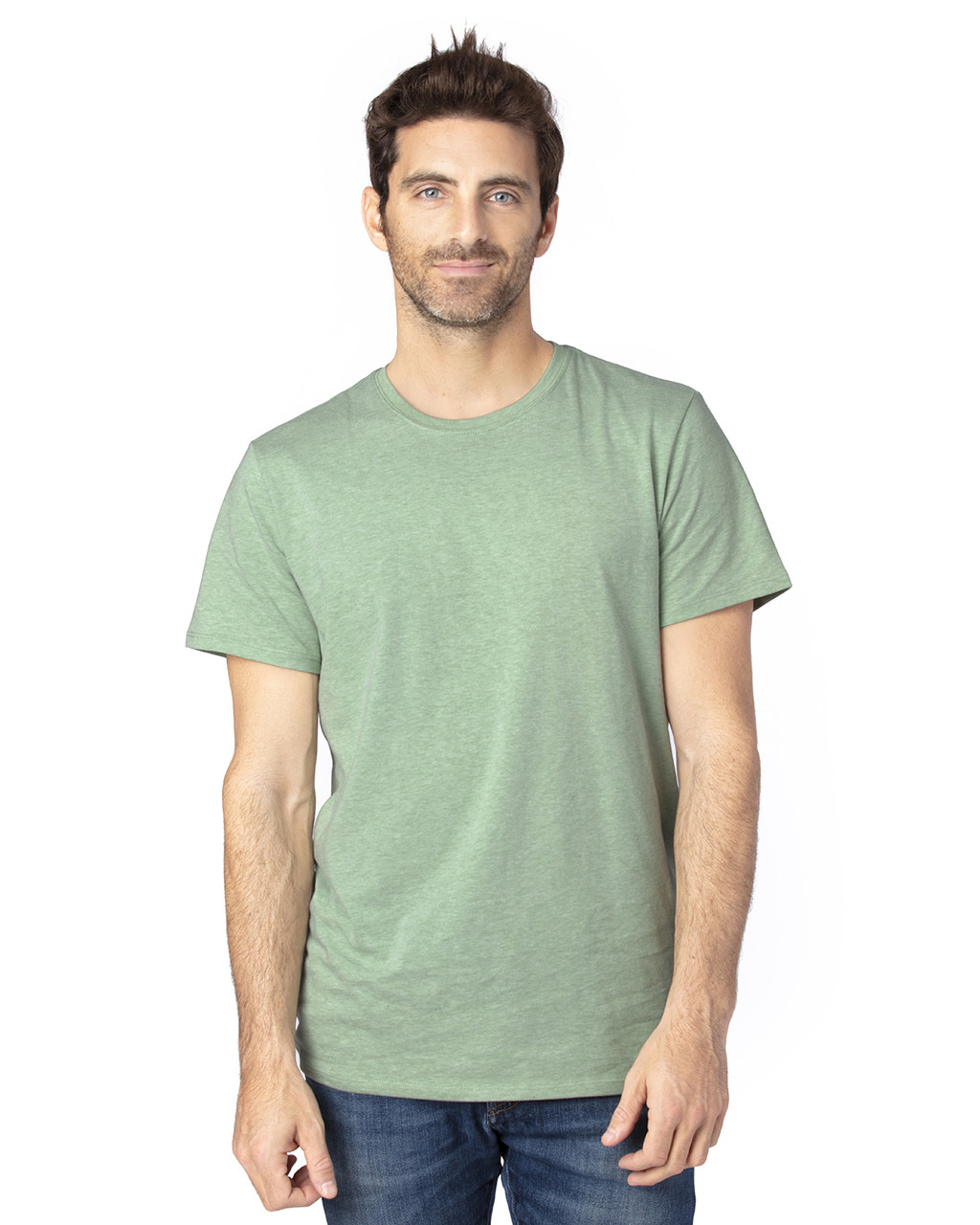 Army Heather - 100A Threadfast Unisex Ultimate Short-Sleeve T-Shirt | BlankClothing.ca